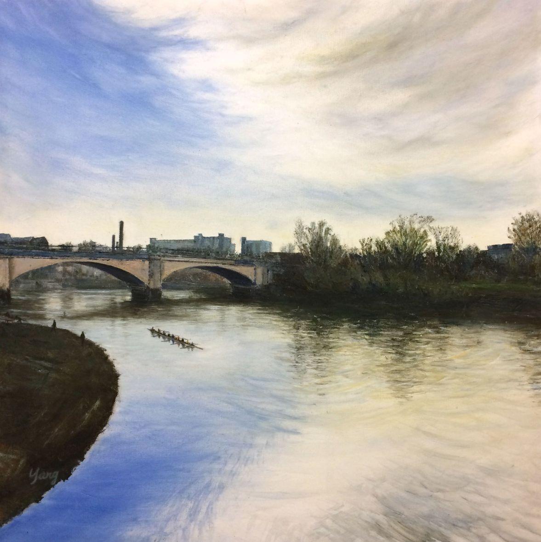 Chiswick Bridge, Low Tide. 2017. Yang Yuxin