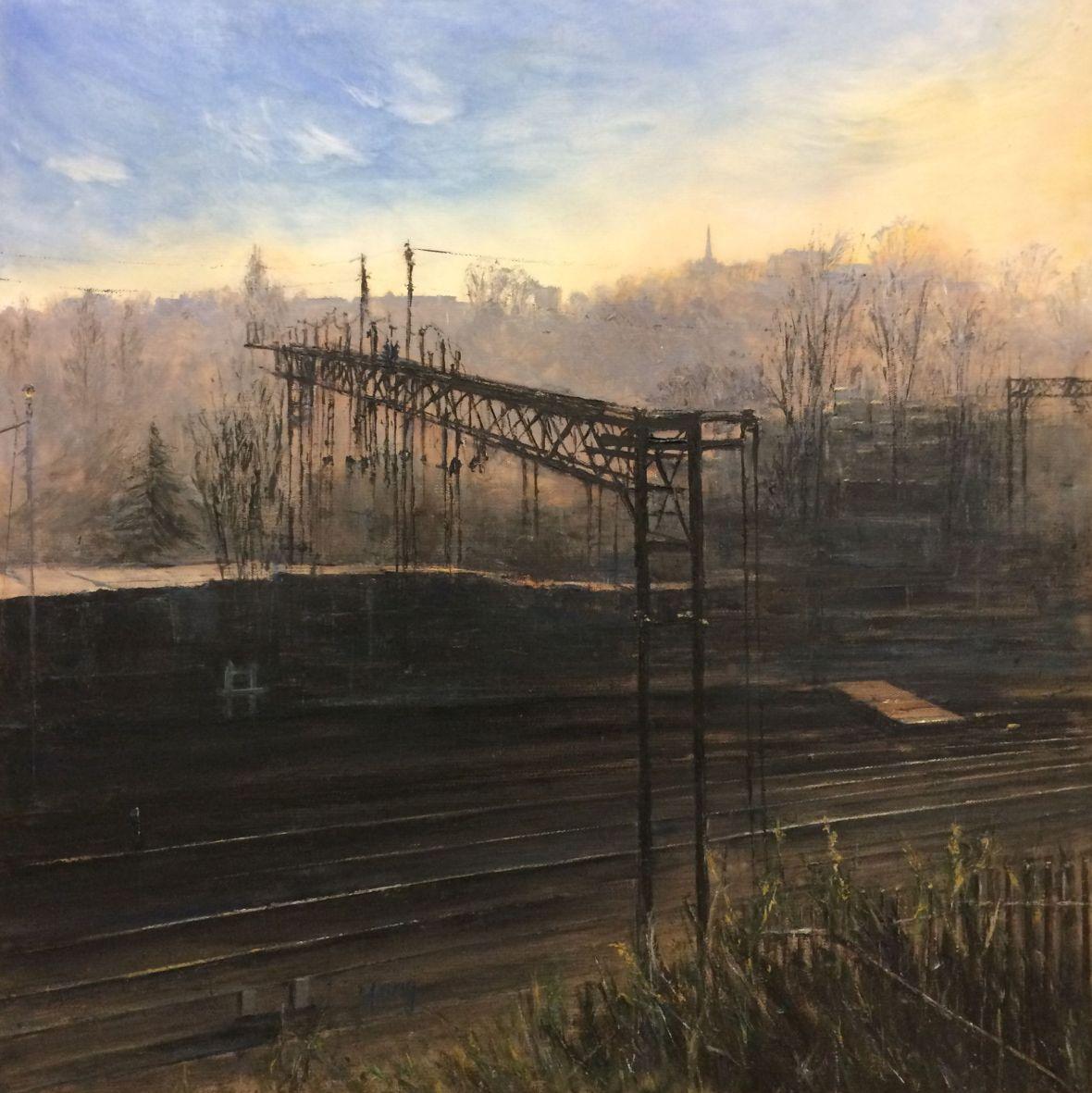 Kings Heath Train Depot, Morning. 2017. Yang Yuxin